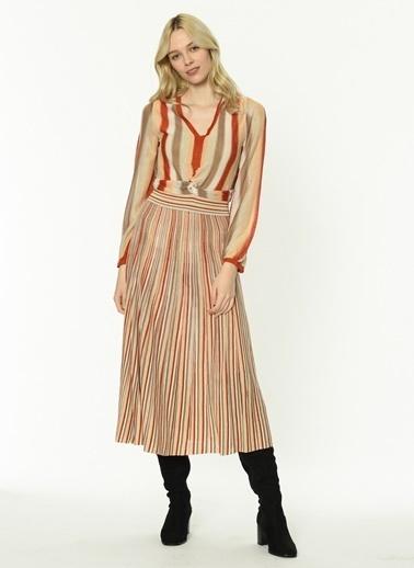 Ipekyol Eteği Pilisoley Triko Elbise Ten